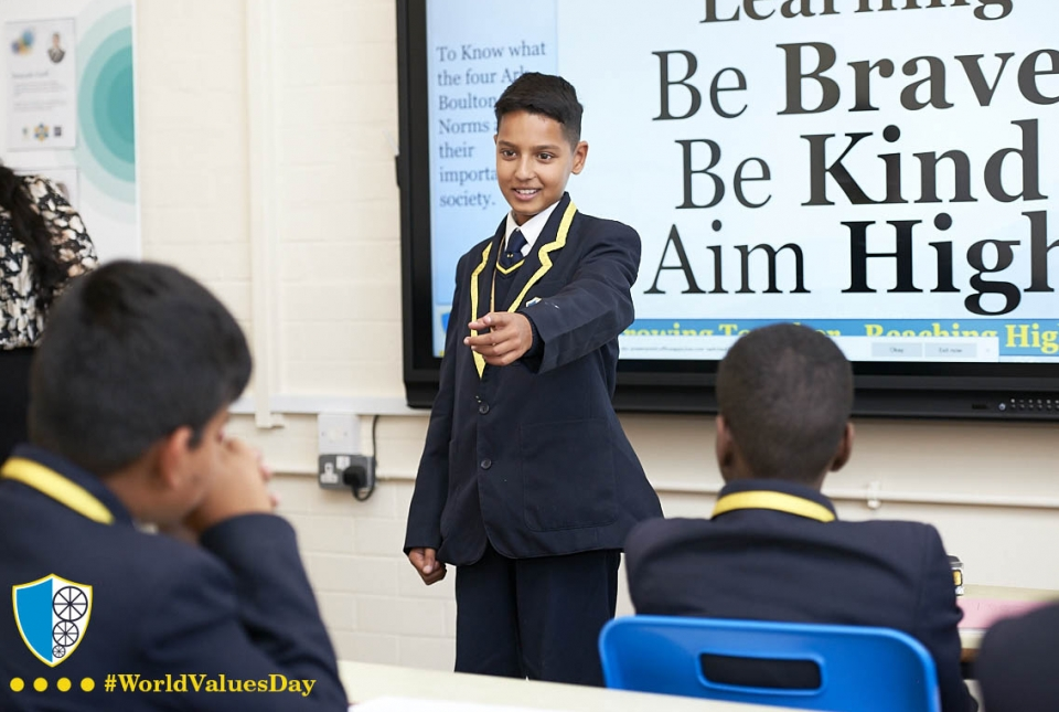 Values to Keep Learning, Be Brave, Be Kind & Aim High